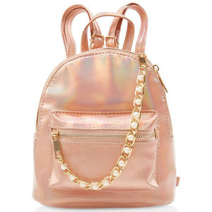 Handbags - 🍍LAST 1 Rose Gold Backpack Pearl Holographic mini